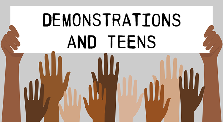 Teen involvement in demonstrations against police brutality
