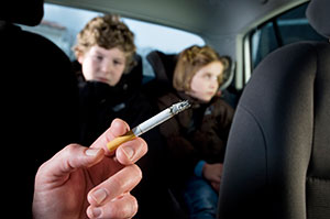 Smoking in vehicles with children present