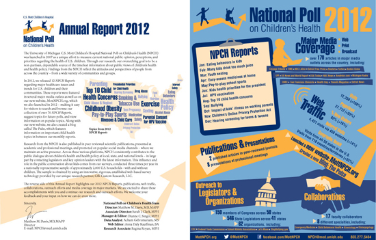 National Poll on Children's Health 2012 Annual Report