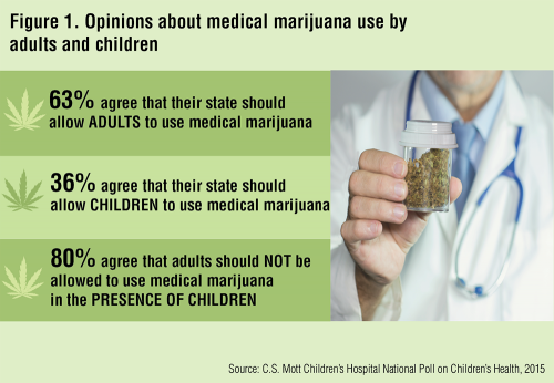 Figure 1: Opinions on the use of medical marijuana for adults and children
